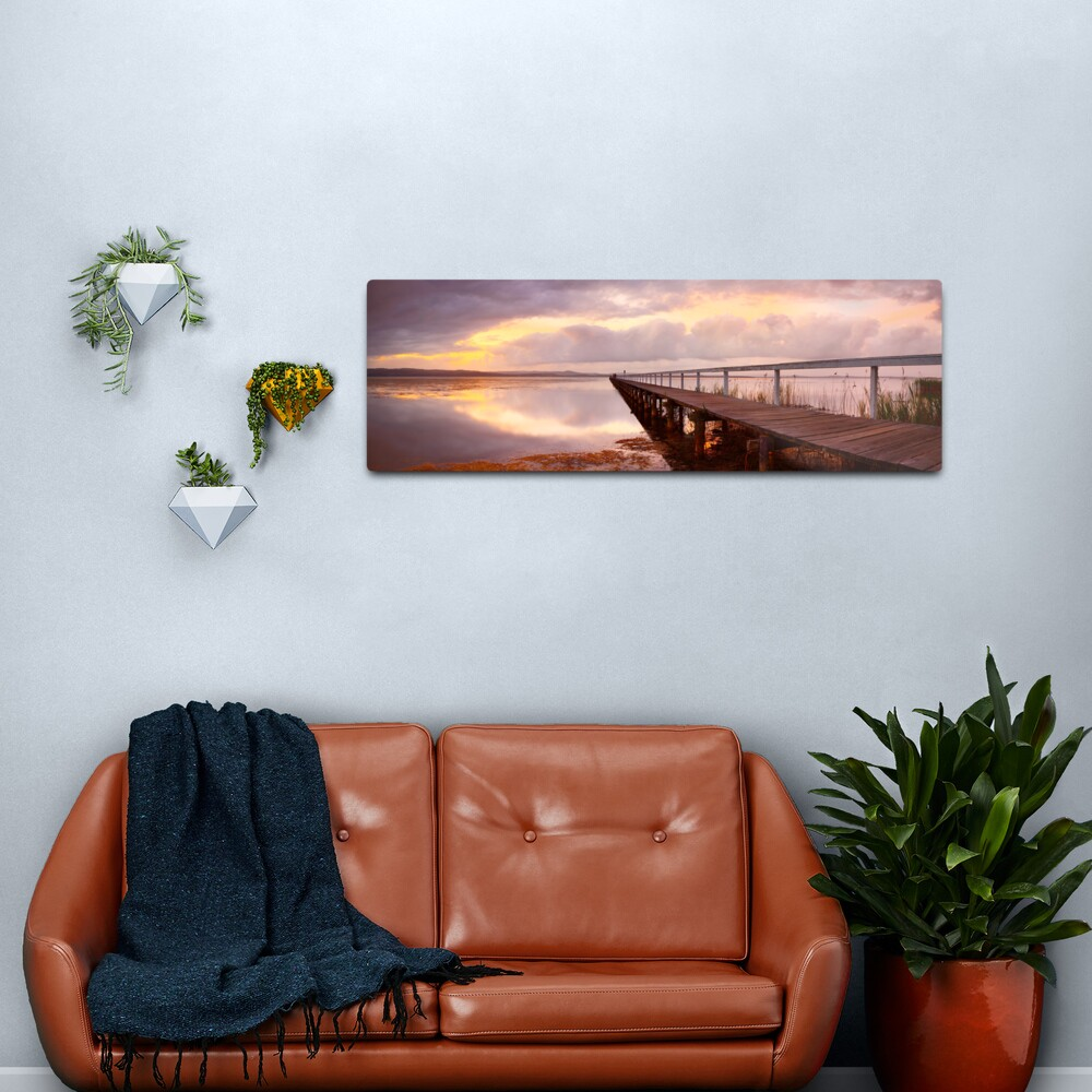 Long Jetty Sunset, New South Wales, Australia Metal Print