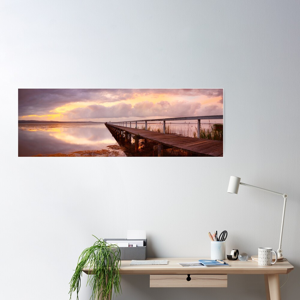 Long Jetty Sunset, New South Wales, Australia Poster