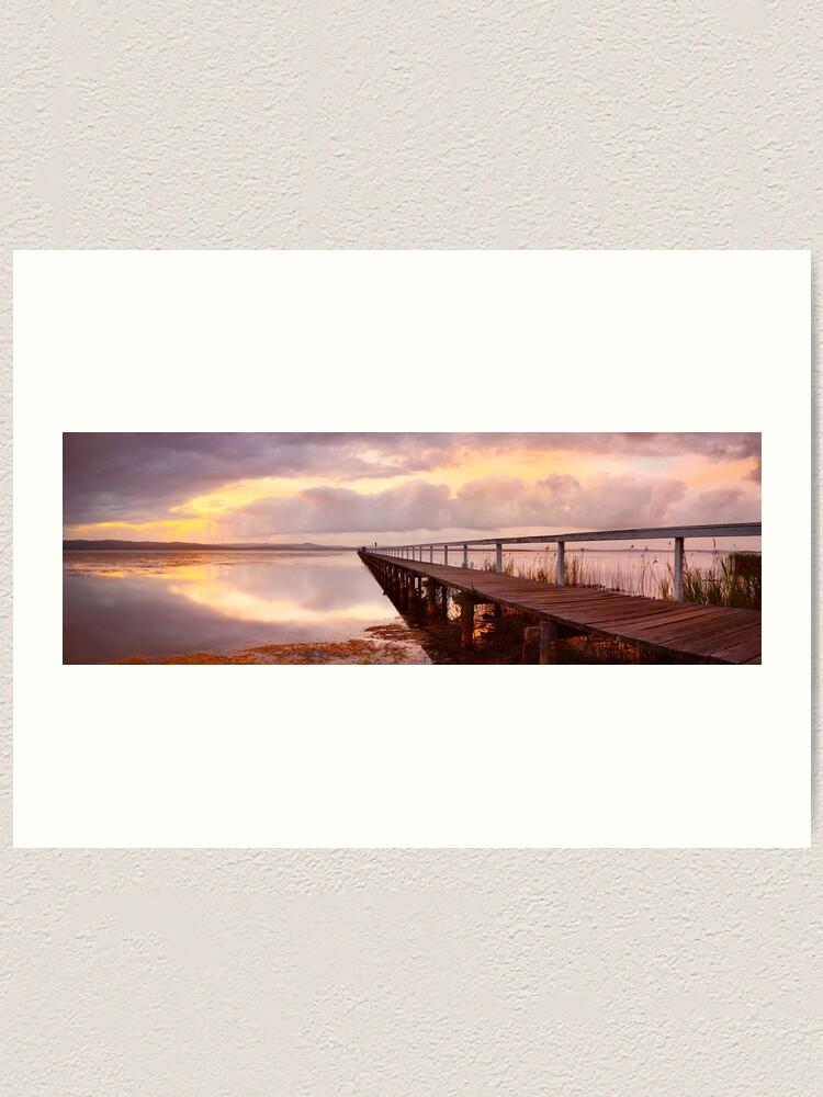 Alternate view of Long Jetty Sunset, New South Wales, Australia Art Print