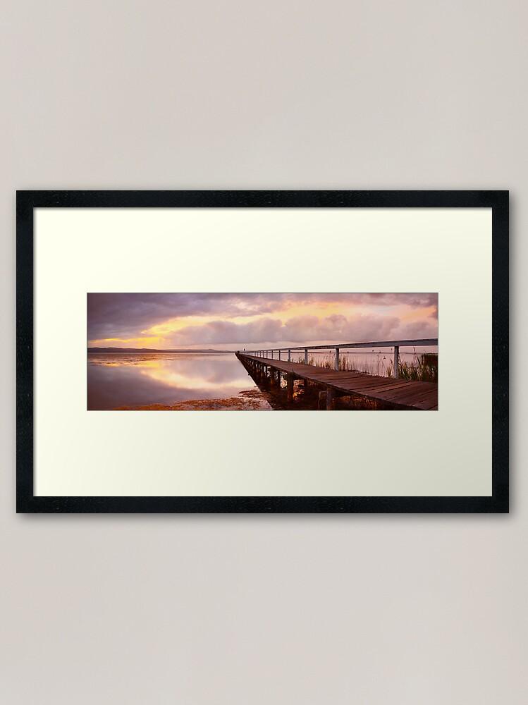 Alternate view of Long Jetty Sunset, New South Wales, Australia Framed Art Print