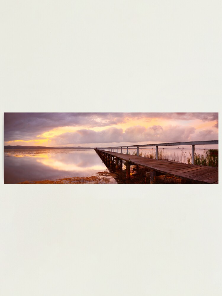 Alternate view of Long Jetty Sunset, New South Wales, Australia Photographic Print