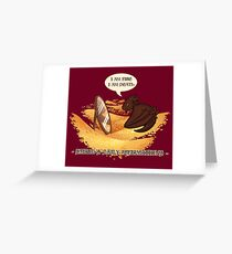 Smaug's Daily Affirmations Greeting Card