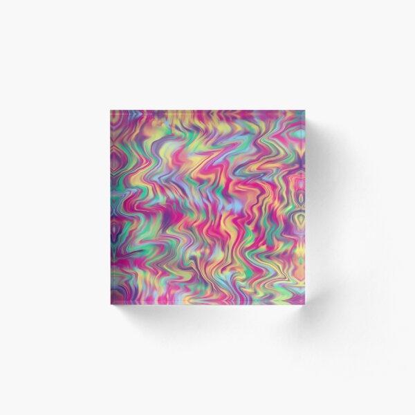 Vivid Rainbow Pop  Acrylic Block