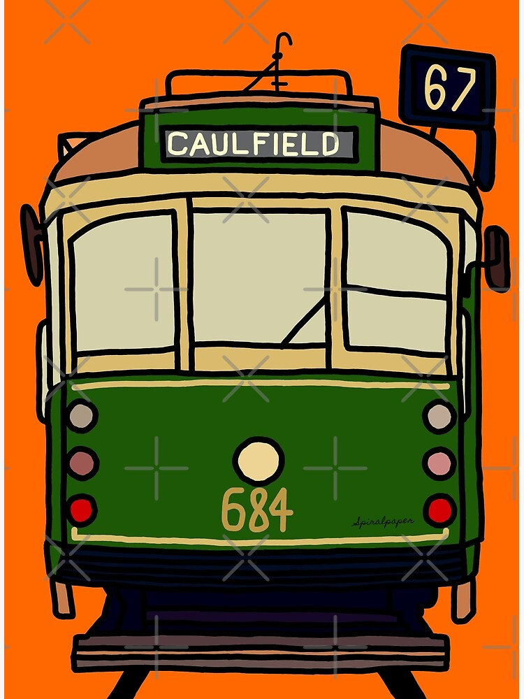 Melbourne Tram - No.67 to Caulfield by spiralpaper