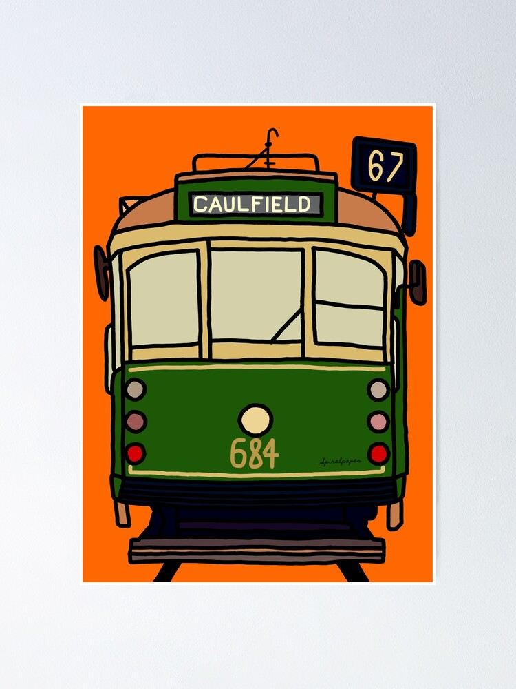 Alternate view of Melbourne Tram - No.67 to Caulfield Poster