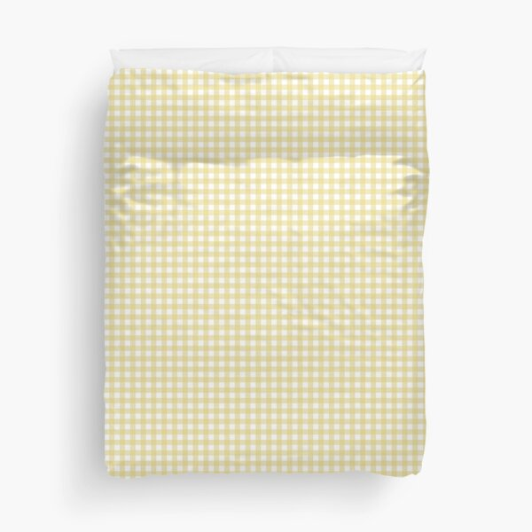 Yellow and White Gingham Duvet Cover