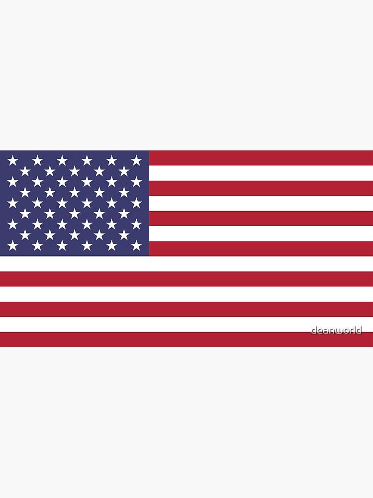 USA Flag Fridge Magnet by deanworld