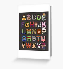 Teenage Mutant Ninja Turtle Alphabet Greeting Card