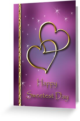Sweetest Day Gold Hearts by jkartlife