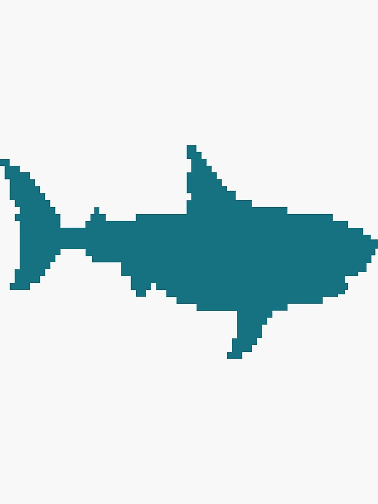 San Jose Hockey Shark Pixel by OrganicGraphic