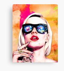 Iggy Azalea- Orange/Pink Canvas Print