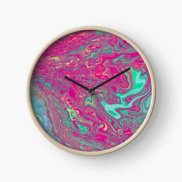 Liquid Acid Painting Clock