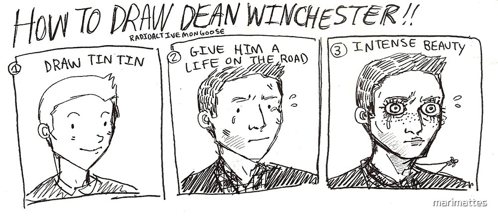 How to Draw Dean Winchester by marimattes