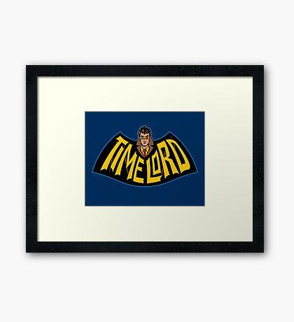 Time Lord Logo Framed Print