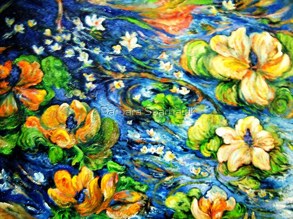 Lily Pond in Motion by Barbara Sparhawk