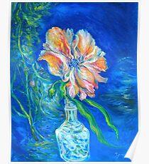 Flower Against Blue Poster