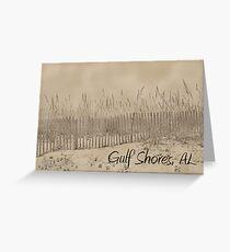 Sandbank of Gulf Shores Greeting Card