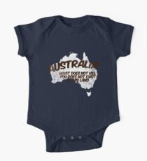 Australia: What does not kill you does not exist in this land One Piece - Short Sleeve
