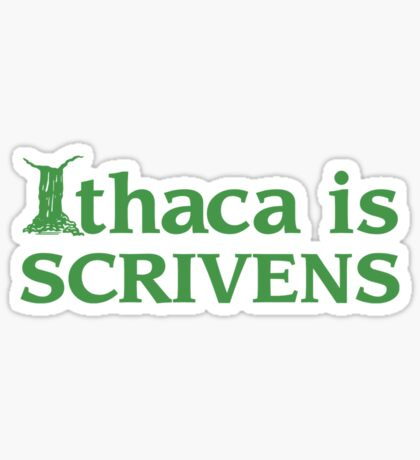 Ithaca Ivy League (GREEN TEXT) Sticker
