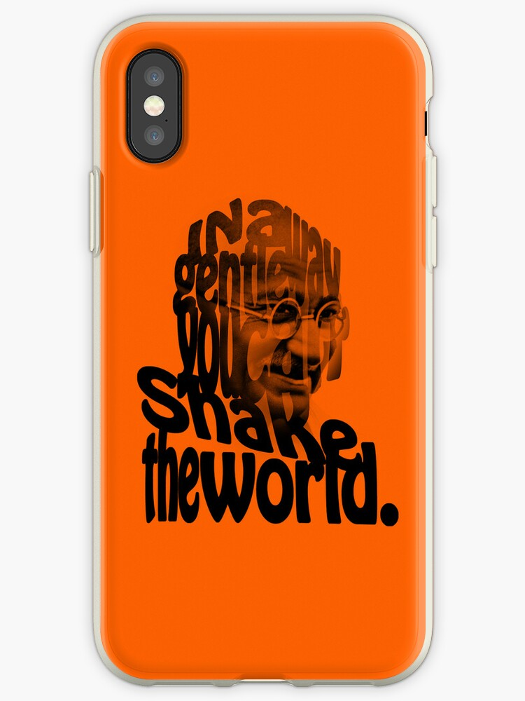 Gently Shake the World - Orange Cases by Neal Easterling