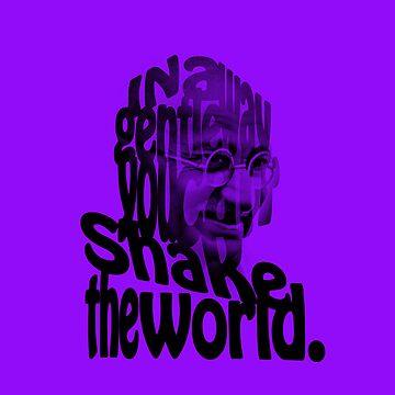 Gently Shake the World - Purple Cases by JOEasterlingII