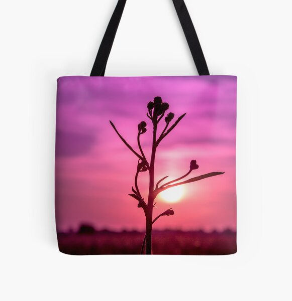 Sunset and silhouette (Landscape) All Over Print Tote Bag
