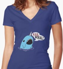 Narwhal! Women's Fitted V-Neck T-Shirt