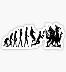 Welsh evolution Sticker