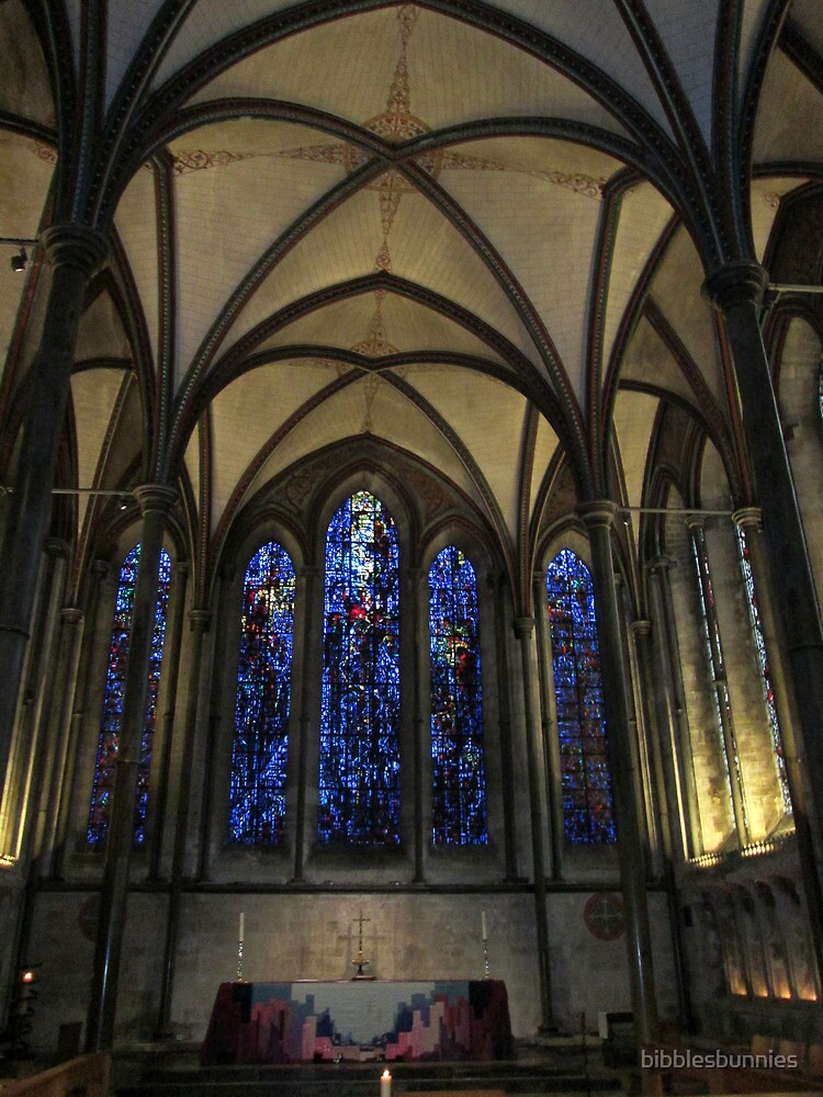 Salisbury Cathedral blue window by bibblesbunnies