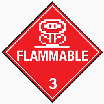 Flower Power Flammable Placard by W4rnings