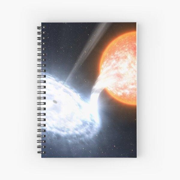 Artist's Impression of a Black Hole Spiral Notebook