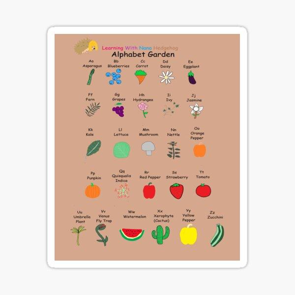 Nana Hedgehog Alphabet Garden Sticker