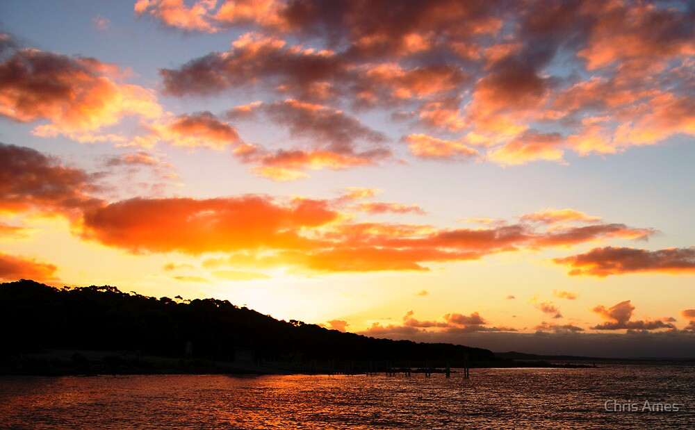 Sunset over Montagu by Chris Ames