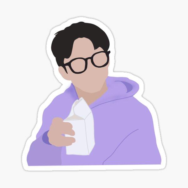 The Boyz Q Drinking Milk Sticker