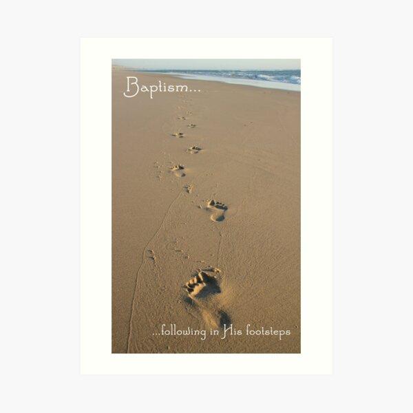 Footprints Baptism Card Art Print