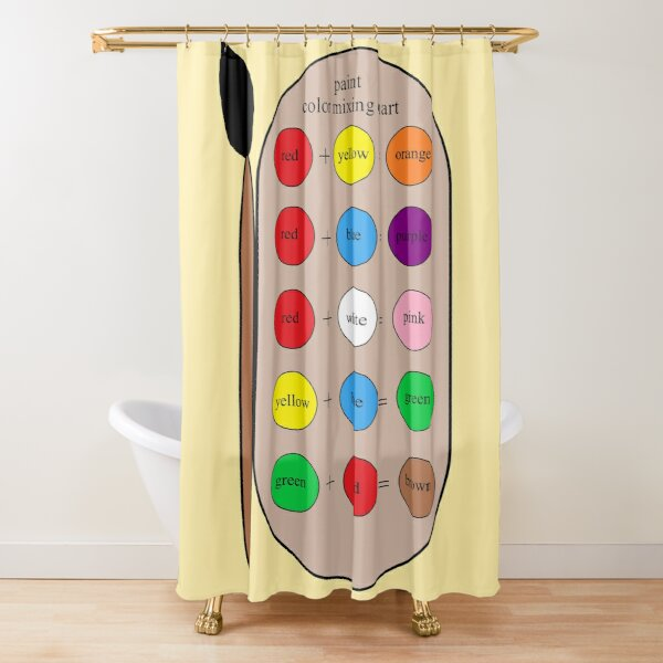 Paint Color Mixing Chart Shower Curtain