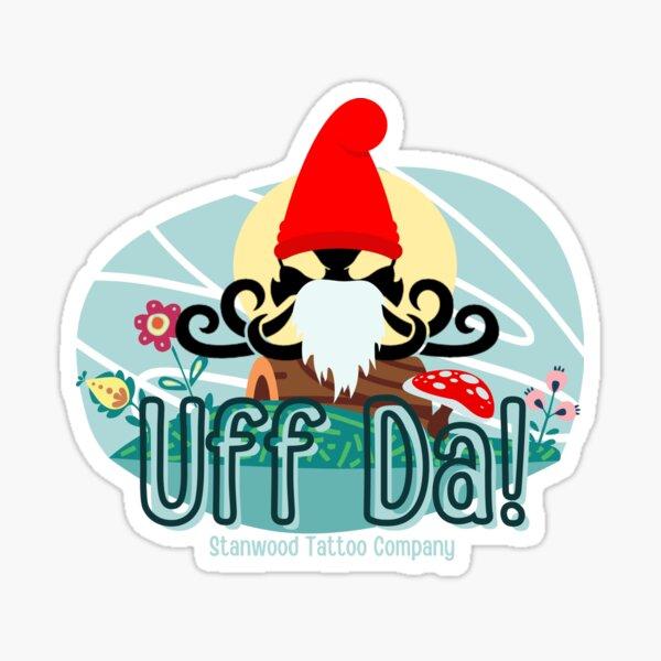 STC Uff Da Logo  Sticker