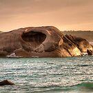 Cave Rock Twilight Beach by Peter Rattigan