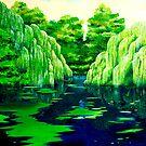 Green pond by Luigi Maria De Rubeis