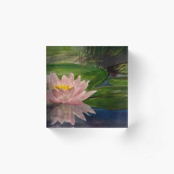 Water Lilly Acrylic Block