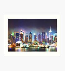 Lámina artística New York City Smoky Skyline