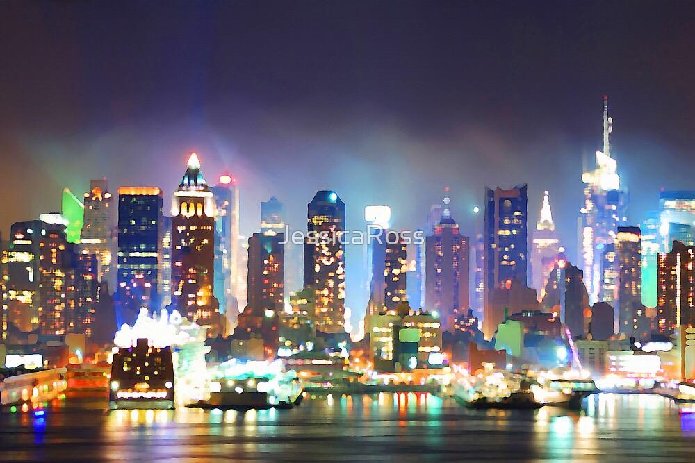 New York City Smoky Skyline by JessicaRoss