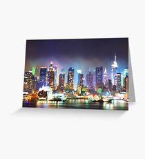 New York City Smoky Skyline Greeting Card