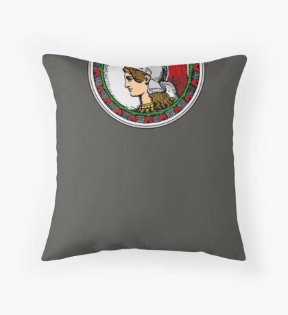 Athena/Minerva - color Throw Pillow