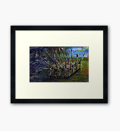 Storming the Establishment (Version 2) Framed Print