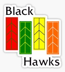 Black Hawks  Sticker