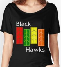 Black Hawks (reverse colors) Women's Relaxed Fit T-Shirt