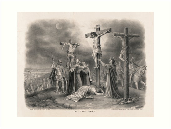 The Crucifixion from painting by Louis Kurz (1907) by allhistory