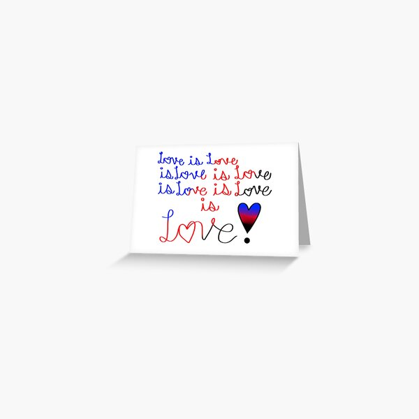 Love is Love, Poly-amorous flag Greeting Card