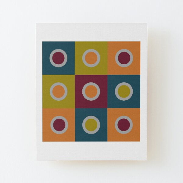 Abstract Wood Mounted Print
